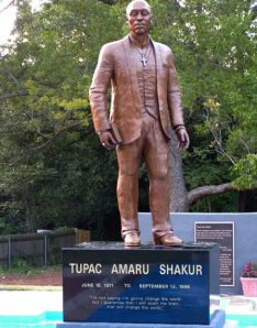 Statue of Tupac in Baltimore, Maryland